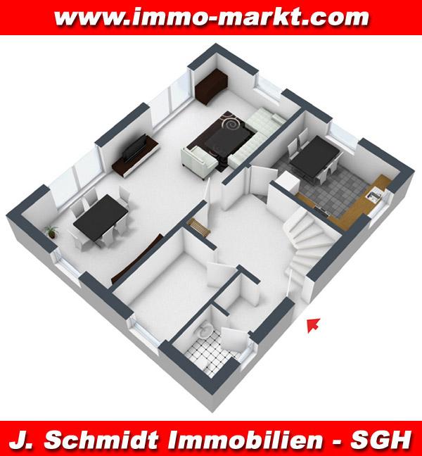 Stadtvilla grundriss 3d  FIBAV Stadtvilla Hohen Neuendorf - Wfl.: ca. 137 m²