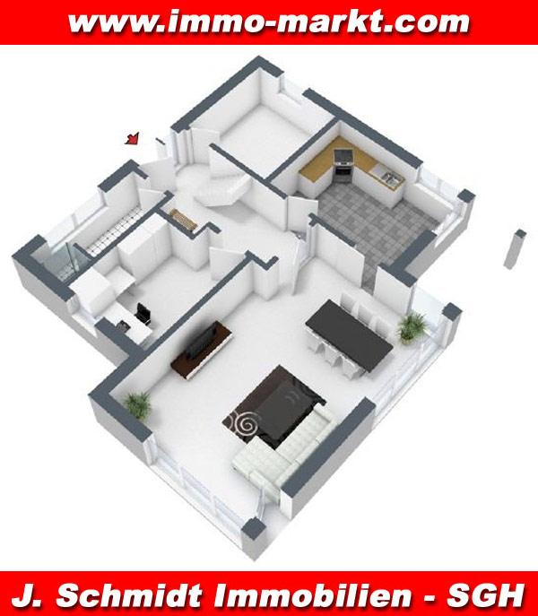 Stadtvilla grundriss 3d  FIBAV Stadtvilla Kubus I - Wohnfläche: ca. 170 m²