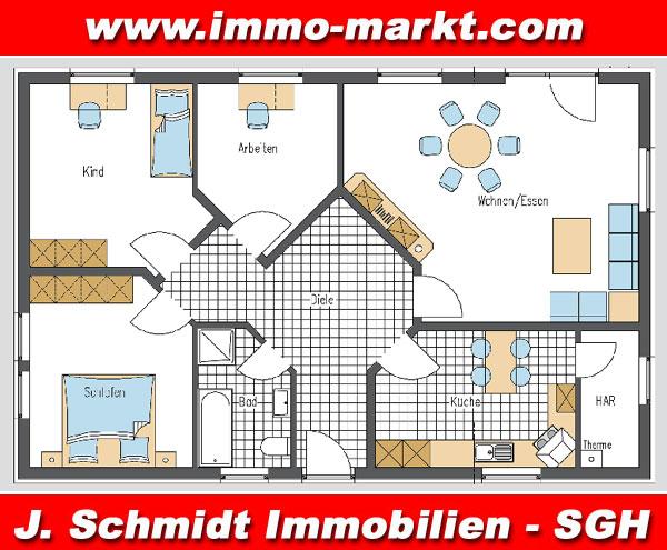 ... FIBAV Volkshaus Bungalow Variante 02 Erweiterung 01 Grundriss EG ...